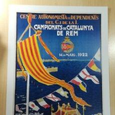 Coleccionismo deportivo: CARTEL REAL CLUB MARITIM DE BARCELONA. Lote 152964524