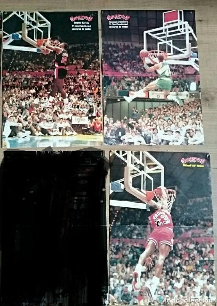 LOTE 3 POSTER NBA MATES MICHAEL JORDAN KERSEY STANSBURY GIGANTES DEL BASKET AÑOS 80 (Coleccionismo Deportivo - Carteles otros Deportes)