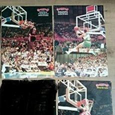 Coleccionismo deportivo: LOTE 3 POSTER NBA MATES MICHAEL JORDAN KERSEY STANSBURY GIGANTES DEL BASKET AÑOS 80. Lote 121973152
