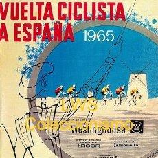 Coleccionismo deportivo: VUELTA CICLISTA A ESPAÑA 1965 PUBLICIDAD IMÁGENES CARTELES - DEPORTES - CICLISMO - BICICLETAS. Lote 153159686