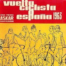 Coleccionismo deportivo: VUELTA CICLISTA A ESPAÑA 1963 - PUBLICIDAD IMÁGENES CARTELES - DEPORTES - CICLISMO - BICICLETAS. Lote 153161286