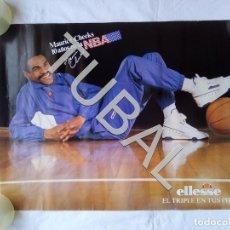 Coleccionismo deportivo: TUBAL 67 CM CARTEL MAURICE CHEEKS NBA ELLESSE EL TRIPLE EN TUS PIES 1987 BALONCESTO . Lote 153494642