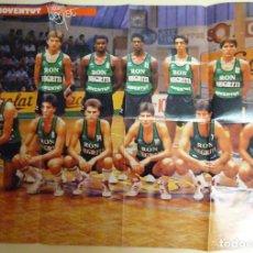 Coleccionismo deportivo: POSTER DE BALONCESTO. JOVENTUT DE BADALONA Y REAL MADRID BASKET. AÑOS 90. 58X42CM. Lote 154314798