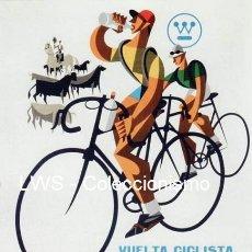 Coleccionismo deportivo: VUELTA CICLISTA A ESPAÑA 1965 PUBLICIDAD IMÁGENES CARTELES - DEPORTES - CICLISMO - BICICLETAS. Lote 154331470