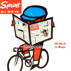 Coleccionismo deportivo: VUELTA CICLISTA A ESPAÑA 1966 PUBLICIDAD IMÁGENES CARTELES - DEPORTES - CICLISMO - BICICLETAS. Lote 154331766
