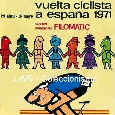 Coleccionismo deportivo: VUELTA CICLISTA A ESPAÑA 1971 PUBLICIDAD CARTELES - DEPORTES - CICLISMO - BICICLETAS. Lote 154357222
