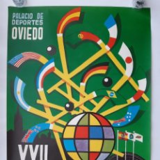 Coleccionismo deportivo: ANTIGUO CARTEL XXII CAMPEONATO MUNDO HOCKEY SOBRE PATINES, PALACIO DEPORTES OVIEDO ASTURIAS 1976. Lote 154775246