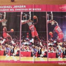 Coleccionismo deportivo: POSTER(56X41) NBA, MICHAEL JORDAN. GANADOR DEL CONCURSO DE MATES 1988 - GIGANTES DEL BASKET. Lote 155499482