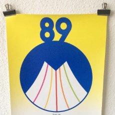 Coleccionismo deportivo: CARTEL POSTER IAAF V COPA DEL MUNDO DE ATLETISMO BARCELONA 1989 TDK. Lote 155555482