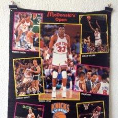 Coleccionismo deportivo: CARTEL POSTER MCDONALD'S OPEN NBA KNICKS BARCELONA 1990. Lote 155555854
