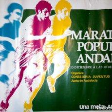 Coleccionismo deportivo: CARTEL. MARATON POPULAR ANDALUZ. 10 DE DICIEMBRE DE 1978.UNA META: ANDALUCIA.. Lote 155992870
