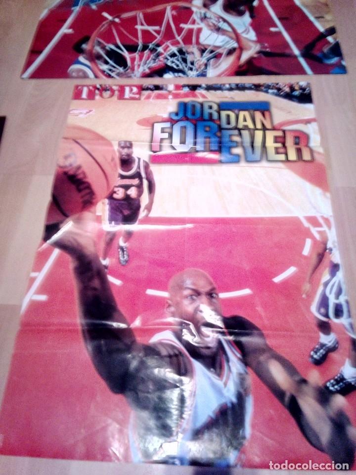 Coleccionismo deportivo: dos posters de michael jordan forever de top disney - Foto 2 - 156921478