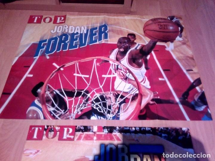 Coleccionismo deportivo: dos posters de michael jordan forever de top disney - Foto 3 - 156921478