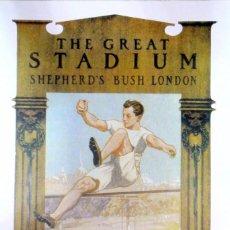 Coleccionismo deportivo: CARTEL JUEGOS OLÍMPICOS LONDRES 1908 , EDICIÓN ESPECIAL 29.8 X 21 CMS. Lote 159595146
