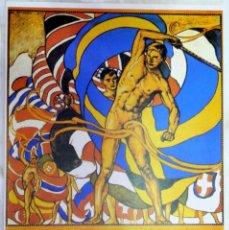 Coleccionismo deportivo: CARTEL JUEGOS OLÍMPICOS ESTOCOLMO 1912, EDICIÓN ESPECIAL 29.8 X 21 CMS. Lote 159595362