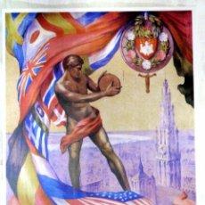 Coleccionismo deportivo: CARTEL JUEGOS OLÍMPICOS BELGICA 1920, EDICIÓN ESPECIAL 29.8 X 21 CMS. Lote 159595366