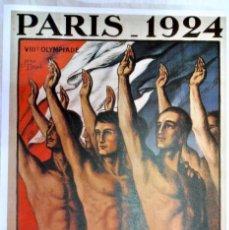 Coleccionismo deportivo: CARTEL JUEGOS OLÍMPICOS PARIS 1924, EDICIÓN ESPECIAL 29.8 X 21 CMS. Lote 159595394