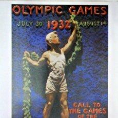 Coleccionismo deportivo: CARTEL JUEGOS OLÍMPICOS LOS ANGELES CALIFORNIA 1932, EDICIÓN ESPECIAL 29.8 X 21 CMS. Lote 159595410