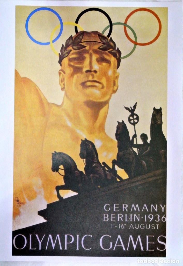 CARTEL JUEGOS OLÍMPICOS BERLIN 1936, EDICIÓN ESPECIAL 29.8 X 21 CMS (Coleccionismo Deportivo - Carteles otros Deportes)