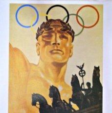 Coleccionismo deportivo: CARTEL JUEGOS OLÍMPICOS BERLIN 1936, EDICIÓN ESPECIAL 29.8 X 21 CMS. Lote 159595438
