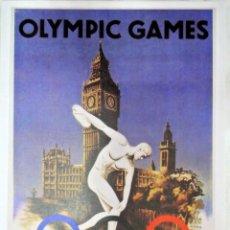 Coleccionismo deportivo: CARTEL JUEGOS OLÍMPICOS LONDRES 1948, EDICIÓN ESPECIAL 29.8 X 21 CMS. Lote 159595446