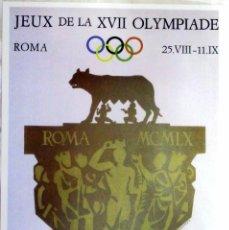 Coleccionismo deportivo: CARTEL JUEGOS OLÍMPICOS ROMA 1960, EDICIÓN ESPECIAL 29.8 X 21 CMS. Lote 159595518
