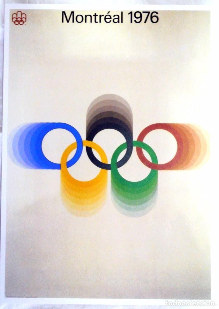 CARTEL JUEGOS OLÍMPICOS MONTRÉAL 1976, EDICIÓN ESPECIAL 29.8 X 21 CMS (Coleccionismo Deportivo - Carteles otros Deportes)