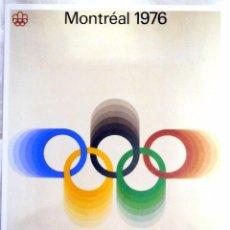 Coleccionismo deportivo: CARTEL JUEGOS OLÍMPICOS MONTRÉAL 1976, EDICIÓN ESPECIAL 29.8 X 21 CMS. Lote 159595614