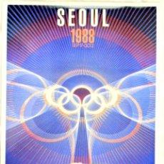 Coleccionismo deportivo: CARTEL JUEGOS OLÍMPICOS SEUL 1988, EDICIÓN ESPECIAL 29.8 X 21 CMS. Lote 159595702