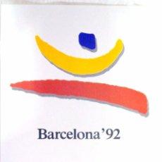 Coleccionismo deportivo: CARTEL JUEGOS OLÍMPICOS BARCELONA 1992, EDICIÓN ESPECIAL 29.8 X 21 CMS. Lote 159595726
