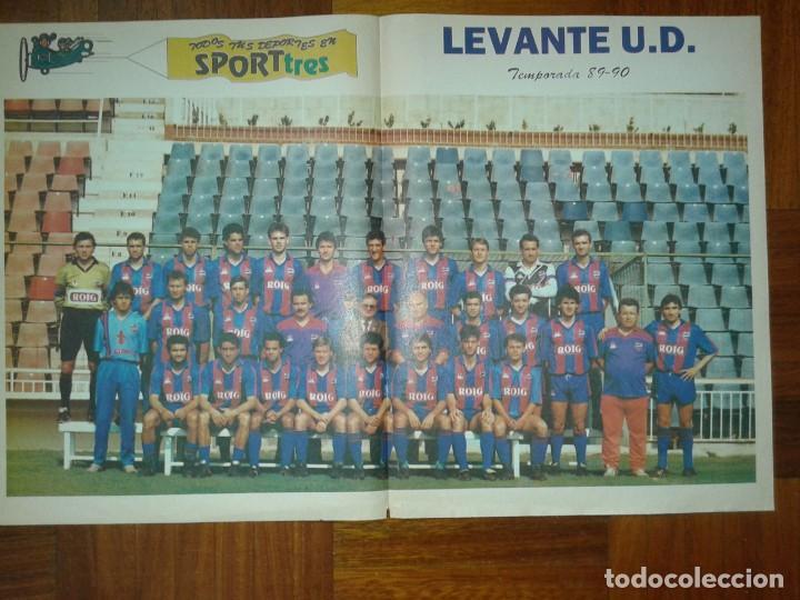 POSTER LEVANTE 89-90 (Coleccionismo Deportivo - Carteles otros Deportes)
