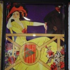 Coleccionismo deportivo: CARTEL METALICO AUTOMOBILISMO (1910). Lote 162772614