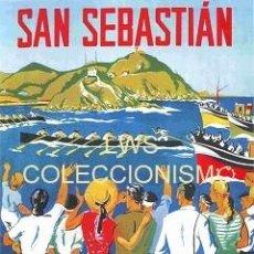 Coleccionismo deportivo: SAN SEBASTIAN - REGATAS DE TRAINERAS 1952 - PUBLICIDAD IMÁGENES - DEPORTES - REMO. Lote 176693708