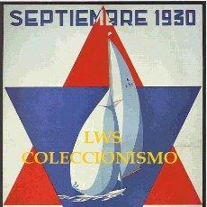 Coleccionismo deportivo: SAN SEBASTIAN - REGATAS INTERNACIONALES REAL CLUB NAUTICO 1930 PUBLICIDAD IMÁGENES DEPORTES NAUTICA. Lote 176693527