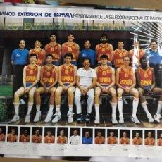 Coleccionismo deportivo: POSTER DE LA SELECCIÓN NACIONAL DE BALONCESTO. 1985.. Lote 163982138