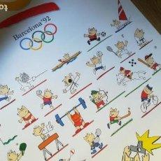 Coleccionismo deportivo: CARTEL ORIGINAL BARCELONA 92, JUEGOS OLÍMPICOS, COBI.. Lote 164788202