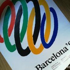 Coleccionismo deportivo: CARTEL ORIGINAL BARCELONA 92, JUEGOS OLÍMPICOS.. Lote 164788286