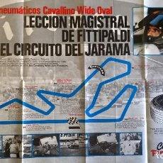 Coleccionismo deportivo: LECCION MAGISTRAL DE FITTIPALDI EN EL JARAMA. FIRESTONE. 68X48. Lote 165671110