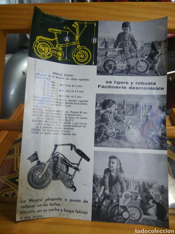 BICICLETA MONTSI- CATÁLOGO INSTRUCCIONES (Coleccionismo Deportivo - Carteles otros Deportes)