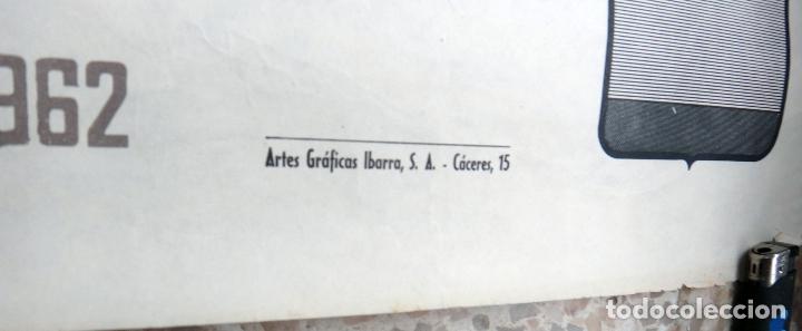 Coleccionismo deportivo: CARTEL DEPORTES , ATLETISMO , JUEGOS ATLETICOS IBEROAMERICANOS MADRID , 1962 ,ORIGINAL - Foto 4 - 166159374