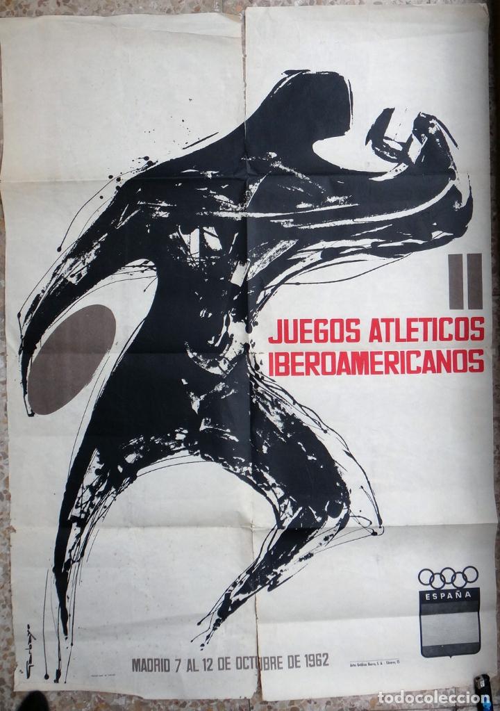 CARTEL DEPORTES , ATLETISMO , JUEGOS ATLETICOS IBEROAMERICANOS MADRID , 1962 ,ORIGINAL (Coleccionismo Deportivo - Carteles otros Deportes)