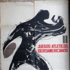 Coleccionismo deportivo: CARTEL DEPORTES , ATLETISMO , JUEGOS ATLETICOS IBEROAMERICANOS MADRID , 1962 ,ORIGINAL. Lote 166159374