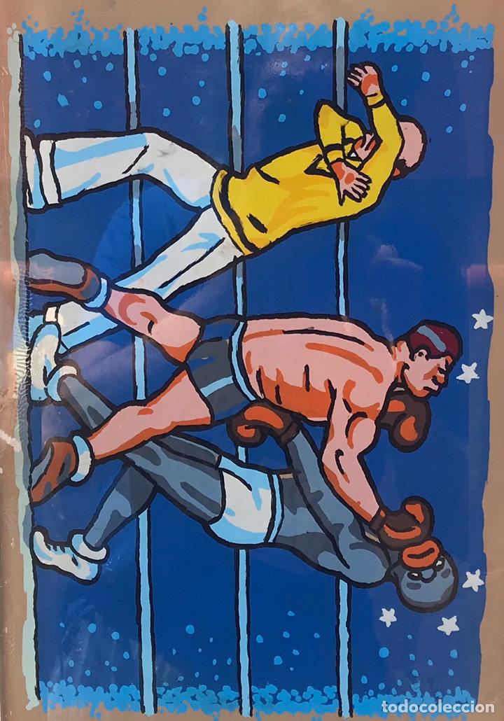 Coleccionismo deportivo: BAR PASTRANO BARCELONA CRISTAL BOXEO AÑOS 3O DECORACION PINTURA DEPORTE - Foto 2 - 166915538