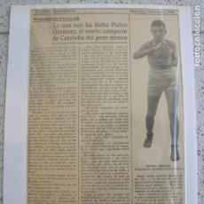 Coleccionismo deportivo: PAGINA DE LA GACETA DE LOS DEPORTES MIERCOLES 5 DE DICIEMBRE DE 1928. Lote 167133004