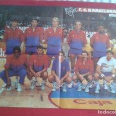 Coleccionismo deportivo: ANTIGUO POSTER BALONCESTO LOS RECORDS DEL BASKET BALL FÚTBOL CLUB BARCELONA ESTUDIANTES 85 86 ESPAÑA. Lote 169726988