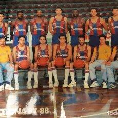 Coleccionismo deportivo: CARTEL TAMAÑO MEDIO (48X32) FC BARCELONA BALONCESTO TEMPORADA 1987-88. Lote 169767632