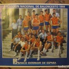 Coleccionismo deportivo: POSTER SELECCIÓN ESPAÑOLA BALONCESTO 1988. Lote 170840785