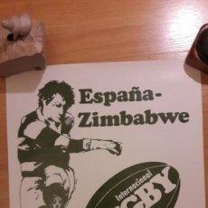 Coleccionismo deportivo: CARTEL DE RUGBY : ESPAÑA-ZIMBABWE 1983. Lote 170884085