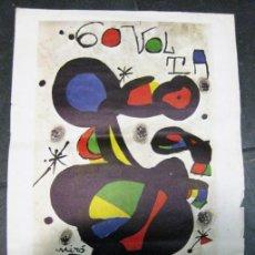 Coleccionismo deportivo: CARTEL 60 VOLTA CICLISTA A CATALUNYA 1980 DISEÑO JOAN MIRÓ .44/37 CM CICLISMO. Lote 171367910