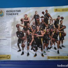 Coleccionismo deportivo: POSTER IBEROSTAR TENERIFE C. BALONCESTO CANARIAS LIGA ENDESA 2018/2019 ABROMAITIS-RODRIGO SAN MIGUEL. Lote 171445894
